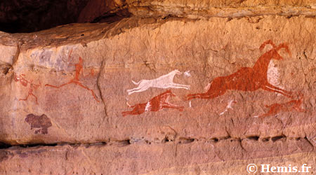 Ancient hunter-gatherer cave art.