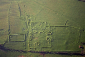 Fig. 4: This is an example of an earthwork. This particular archaeological site is an abandoned Medieval settlement.
